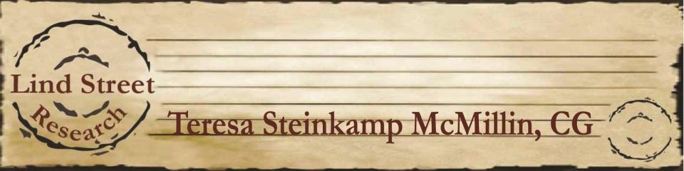Board-certified genealogist - Teresa Steinkamp McMillin